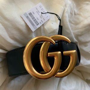 *^New Gucci Belt Âùthentîc Double G Marmot GG